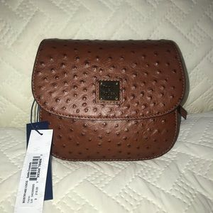 Dooney & Bourke Saddle Crossbody Ostrich Leather